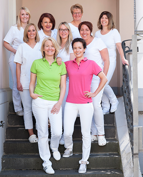 Team Kieferorthopädische Fachpraxis Moers Dr. Anette Schmitz-Habben und Dr. Sarah Dühr